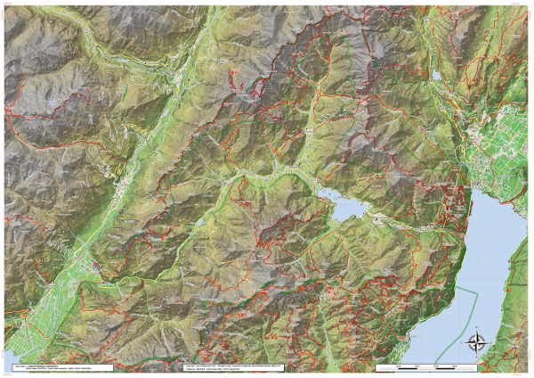 Ledro hiking map